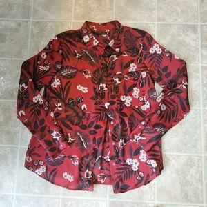 Zara basics blouse